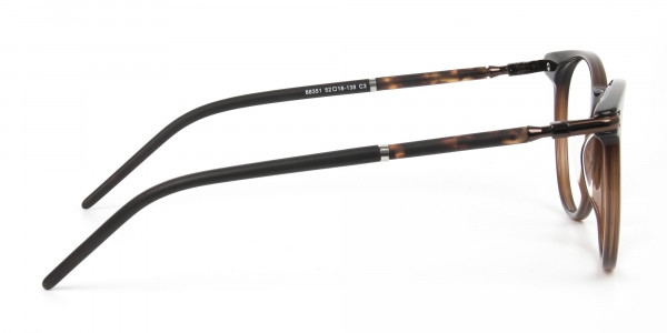 Dark Brown Round spectacles in Acetate - 4