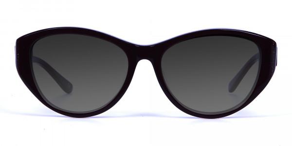 Women's Dark Grey Cat-Eye Sunglasses-1