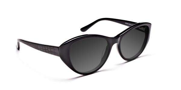 Women's Dark Grey Cat-Eye Sunglasses-2