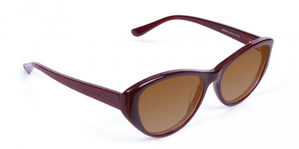 Women's Sunglasses Burgundy & Brown-2