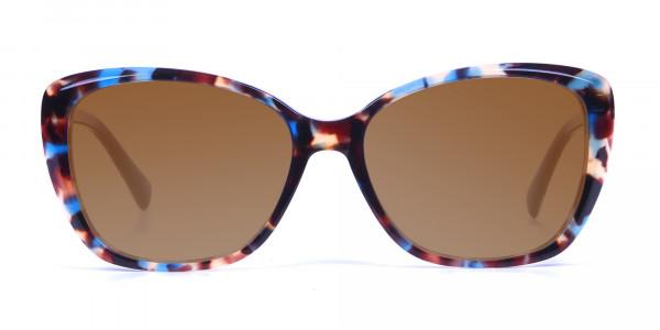 Women's Brown Tortoiseshell Sunglasses-1