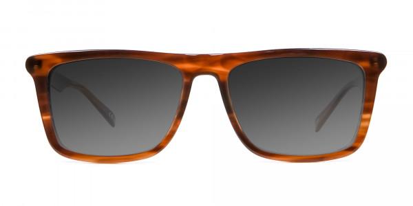 Brown Grey Rectangular Sunglasse-1