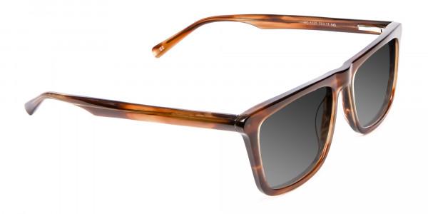 Brown Grey Rectangular Sunglasse-2