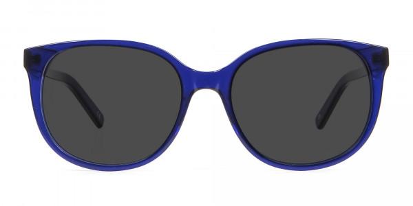 Blue Frame Sunglasses in Cat Eye -1