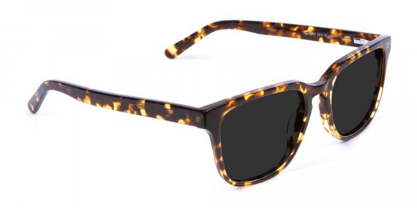Oversized Square Sunglasses in Tortoiseshell - 2