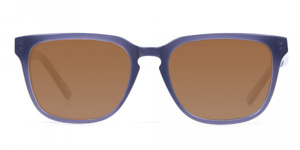 Boxy Sunglasses in Silver Grey  -1