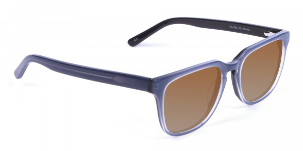 Boxy Sunglasses in Silver Grey  - 2