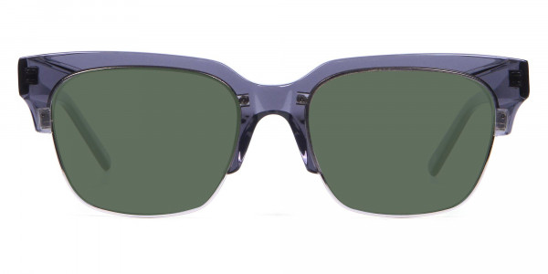 Silver Grey Frame Sunglasses- 1