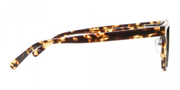 Men's Women's Dark Grey Rectangle Sunglasses-4