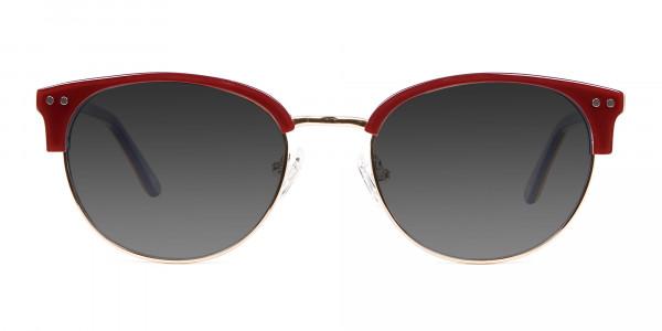 Mahogany Browline Sunglasses Online UK-1