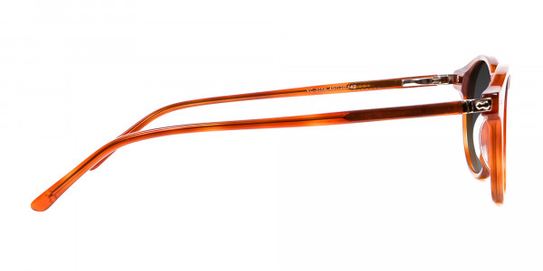Caramel Grey Round Sunglasses Men Women-4