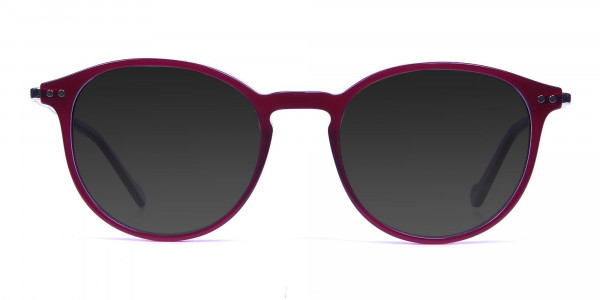 Burgundy Sunglasses - 1