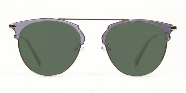 Translucent Frame Sunglasses - 1