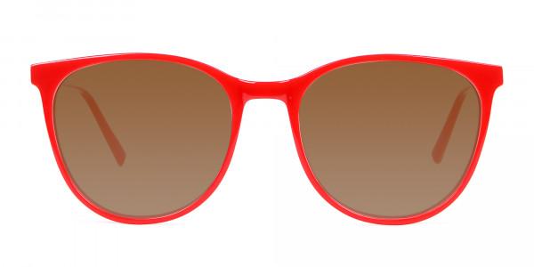 Red Grey Tint Sunglasses Men Women UK-1