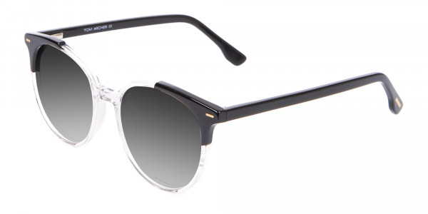 Crystal Clear Round Sunglasses Men Women-3