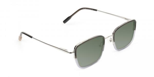 Green Tinted Charcoal Wayfarer Sunglasses -2