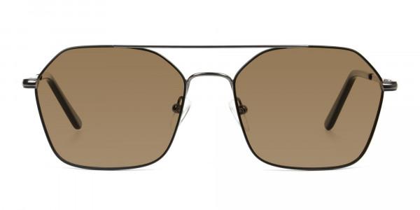 black-gunmetal-geometric-aviator-brown-tinted-sunglasses-frames-1