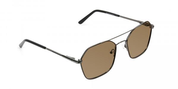 black-gunmetal-geometric-aviator-brown-tinted-sunglasses-frames-2