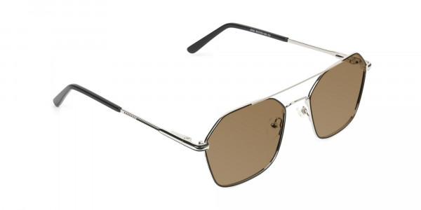 ultralight-silver-black-geomatric-aviator-brown-tinted-sunglasses-2