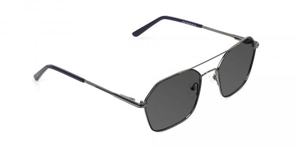 dark-royal-blue-geometric -gunmetal-aviator-grey-tinted-sunglasses-2