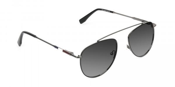 dark-navy-silver-metal-Grey-tinted-aviator-sunglasses-2