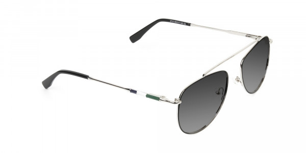 silver-green-thin-frame-aviator-Grey-tinted-sunglasses-2