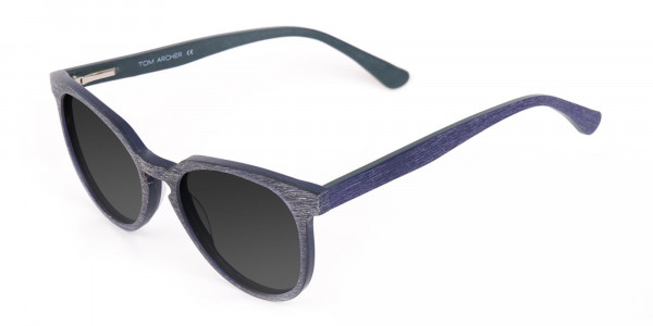 Dusty Green Wooden Sunglasses with Dark Grey Tint - 3