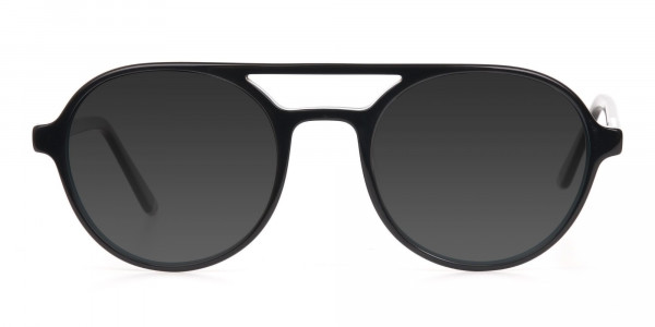 Black and Turquoise Sunglasses - 1