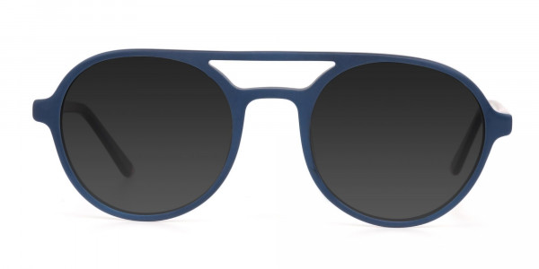 Blue and Turquoise Green Frame Sunglasses - 1