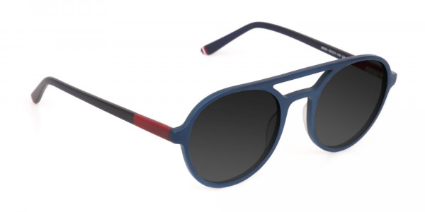 Blue and Turquoise Green Frame Sunglasses - 2