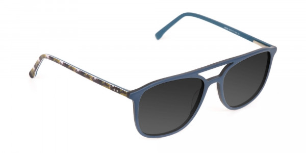 Green Rectangular Sunglasses - 2
