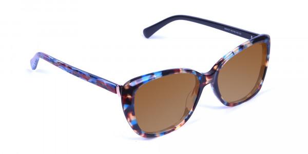 Women's Brown Tortoiseshell Sunglasses-2