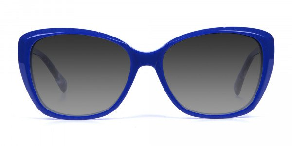 Women Blue Cat-Eye Sunglasses Oversize-1