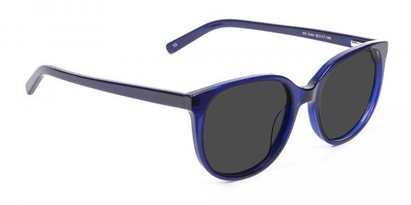 Blue Frame Sunglasses in Cat Eye -2