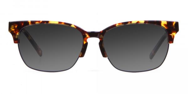 Men's Rectangular Tortoiseshell Sunglasses-1