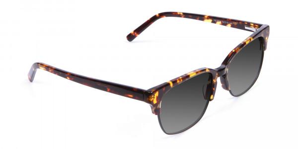 Men's Rectangular Tortoiseshell Sunglasses-2