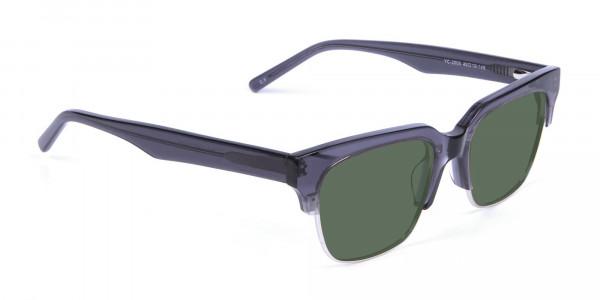 Silver Grey Frame Sunglasses - 2