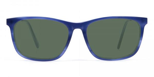 Dark Green Tinted Sunglasses - 1