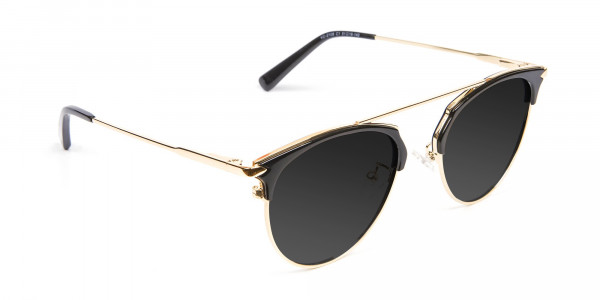 Black and Gold Sunglasses - 2