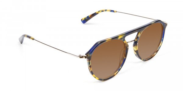 Dark Brown Aviator Sunglasses-2