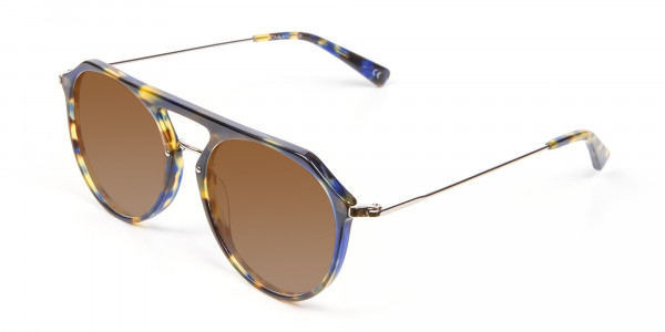 Dark Brown Aviator Sunglasses-3