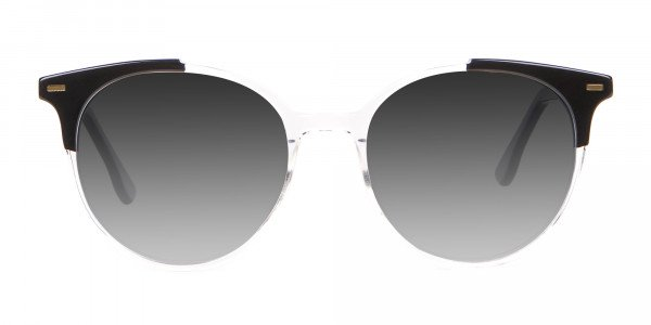 Crystal Clear Round Sunglasses Men Women-1