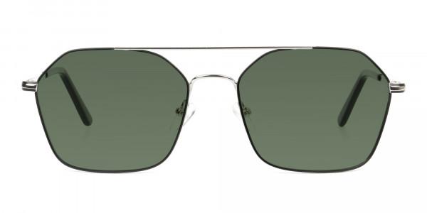 black-and-silver-geomatric-metal-aviator-green-tinted-sunglasses-1