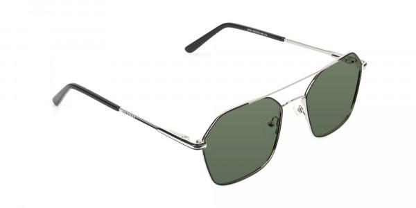 black-and-silver-geomatric-metal-aviator-green-tinted-sunglasses-2
