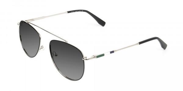 silver-green-thin-frame-aviator-Grey-tinted-sunglasses-3