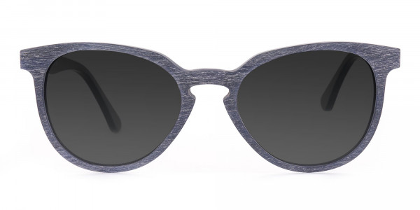 Dusty Green Wooden Sunglasses with Dark Grey Tint- 1