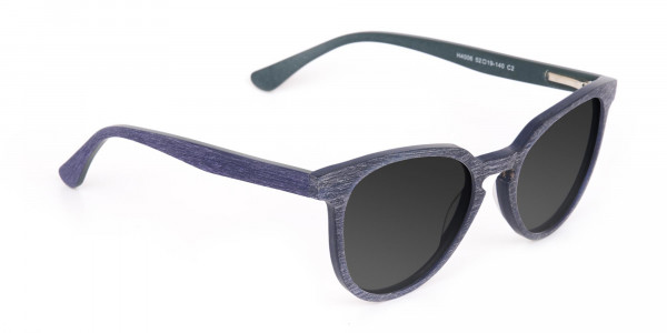 Dusty Green Wooden Sunglasses with Dark Grey Tint - 2