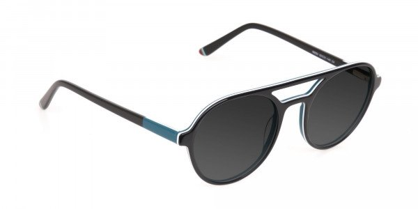 Black and Turquoise Sunglasses - 2