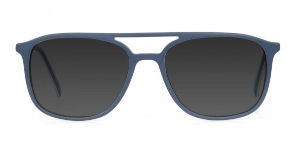 Green Rectangular Sunglasses - 1