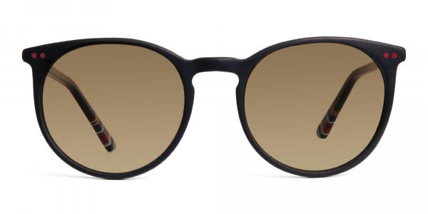 matte-black-designer-round-brown-tinted-sunglasses-frames-1